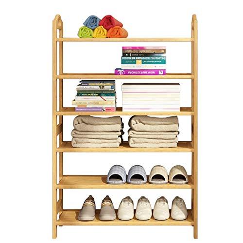 ShiSyan 6 Pisos Zapatero Ahorra Espacio for el Dormitorio Pasillo del Organizador del almacenaje de bambú del Estante Armarios para Zapatos