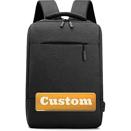 FireH Nome personalizzato Personalizzato 15 pollici 15.6 Borsa per laptop BAG USB Best Zaino per laptop da 14 pollici (Color : Shenhui, Size : One size)