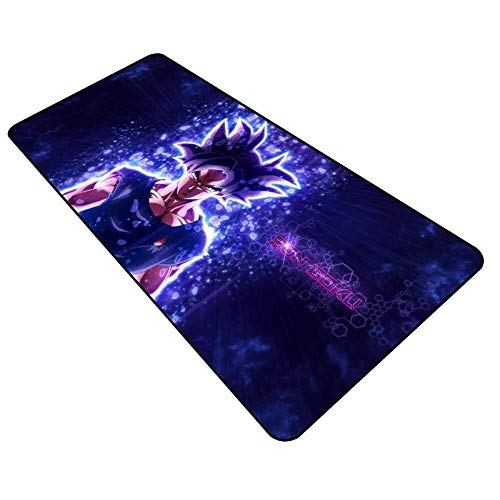 Tappetino Mouse Gaming Grande Gaming Mouse Pad Grande Tastiera Mouse Mat Dragon Ball Goku Gioco Mat Mat Cafe estesa Mousepad for Computer PC Mouse Pad (Color : J, Size : 800x300x3mm)