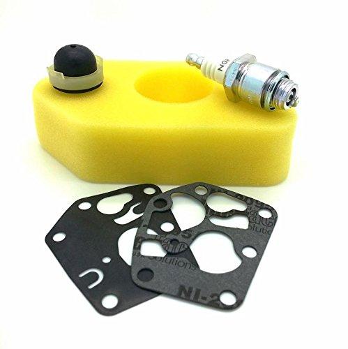 Kit manutenzione per tagliaerba Briggs & Stratton Classic e Sprint, filtro dell'aria, candela, pompa del carburante e membrane