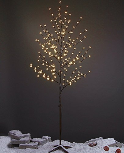 Lightshare 6.5 feet 208L LED Lighted Cherry Blossom Tree, Warm White, Decorate Home Garden, Summer, Wedding, Birthday, Christmas Holiday, Party, for Indoor and Outdoor Use