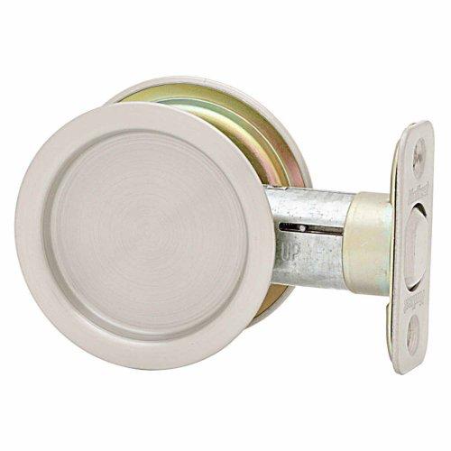 Kwikset 93340-003 334 Round Hall/Closet Pocket Door Lock in Satin...
