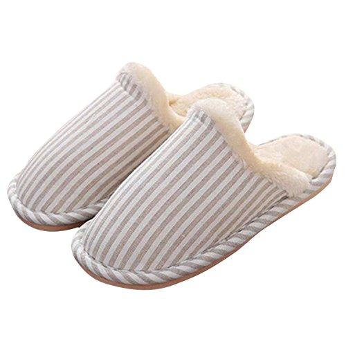 ZUMUii Butterme Hommes Femmes Doublure en Coton Doux Doublure Mémoire Foam Clog Slipper Maison Pantoufles Intérieur