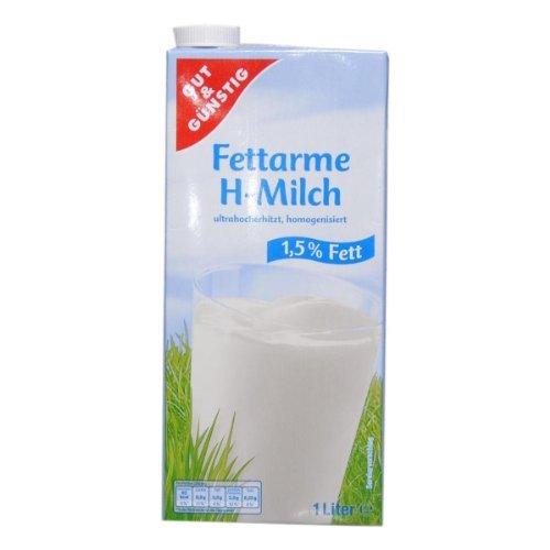 Gut & Günstig H-Milch 1,5% 12 x 1L - 12 x 1000 ml