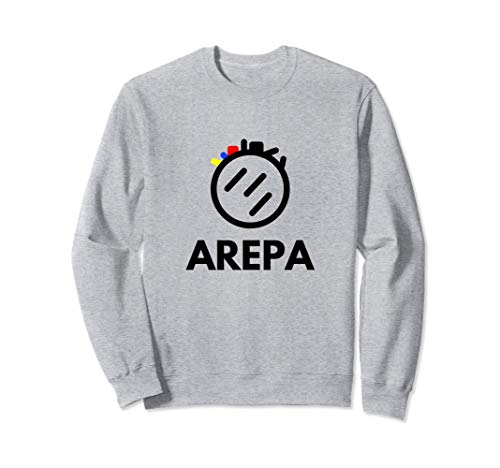 Arepa logo tricolor de diseño moderno colores venezolanos Sudadera