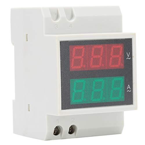 Yeelur Medidor de Potencia de Carril DIN multifunción, AC 200~450V AC 0~100A Medidor de Potencia Voltímetro Amperímetro, para medir Voltaje de CA y Equipos eléctricos de Corriente