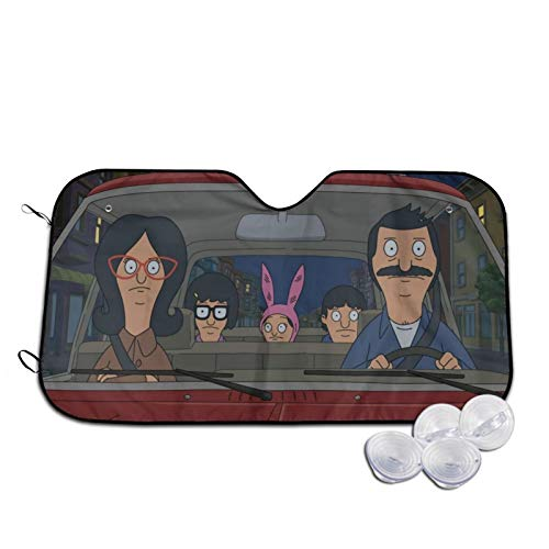 Bob's Burgers Car Sunshade Large Size UV and Heat Protection Front Window Windshield Sun Shade for SUV Trucks Auto Car Minivan Small