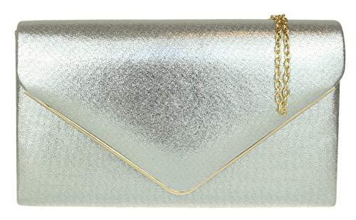 Girly Handbags Cadre Suede Pochette