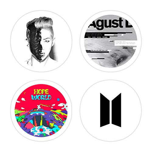 KENNETHHOFFMAN 3 PCs Stickers BTS Mixtapes Rm Agust D Hope World Pop Socket Sized Set 3×4 Inch Die-Cut Wall Decals for Laptop Window Car Bumper Helmet Water Bottle