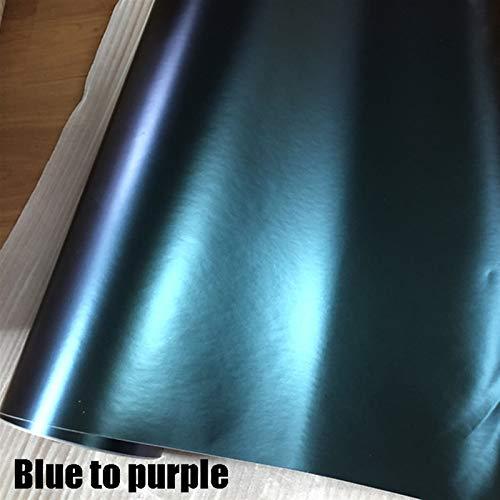 JPVGIA 10/20/30/40/50/60x152cm / Lot erstklassigen grün bis rot chamäleon 3D kohlefaser Vinyl wrapfolie chamäleon wrap Film mit luftblase (Color : Plain bluetopurple, Size : 40CMX152CM)