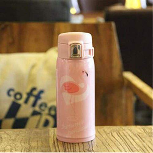 socoola Thermos Cup Flamingo Cup Vakuumflasche Tasse Edelstahl Wasserflasche Becher Thermal Flasche 480ML B2