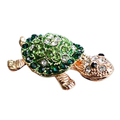 Polytree Cute Crystal Turtle Anti Dust Plug 3.5mm Earphone Jack for iPhone Samsung Galaxy (Green)