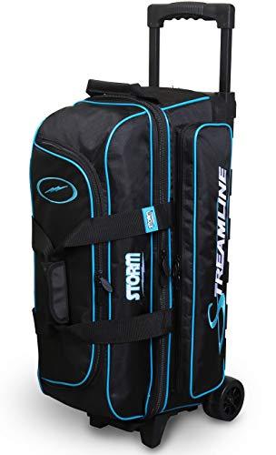 Storm Streamline 3 Ball Roller Bowling Bag- Black/Blue