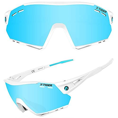 GarysAdventure Gafas de Sol Deportivas Polarizadas, Gafas de Sol de Ciclismo 5 Lentes Deportes Polarizados Hombres Gafas de Ciclismo Gafas de Protección para Montar en Bicicleta de Montaña Gafas