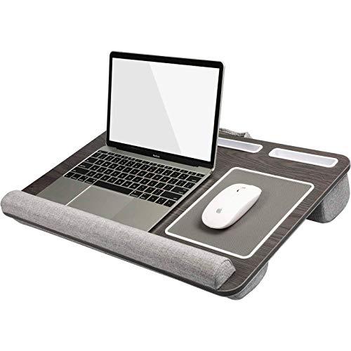 HuaNuo Supporto per Laptop con Cuscino, Tappetino per Mouse e Pad da Polso Integrati per Notebook Fino a 15.6', con Supporto per Tablet, Penna e Telefono