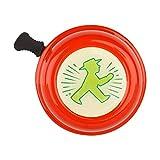 AMPELMANN Wegbereiter - Liix Fahhradklingel - Durchmesser 6 cm Metall in Rot/Grün mit Geher wetterbeständig und UV resistent
