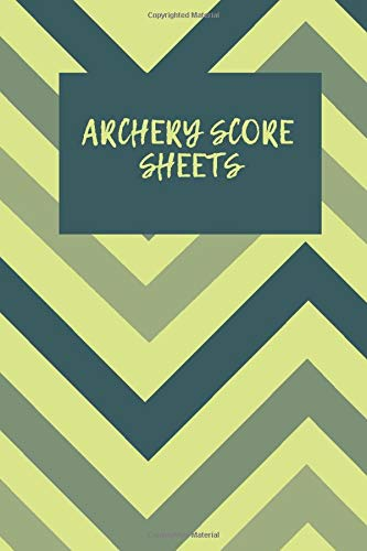 ARCHERY SCORE SHEETS: Interior & paper type: Black & white interior| with white paper| Bleed Settings: No Bleed| Paperback cover finish: Matte| Trim Size: 6 x 9 in| Page Count: 120