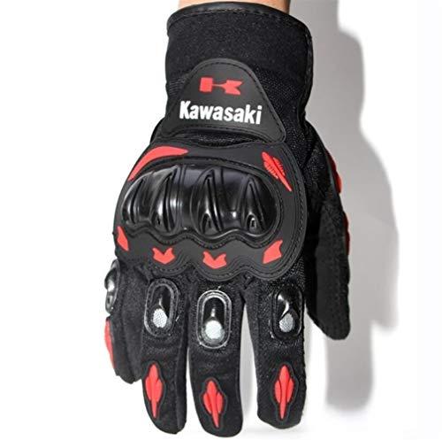 Motorrad-Handschuhe lang Fabrik Probiker Motorrad Handschuhe (Farbe : Red, Size : XL)