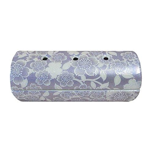 【国産・美濃焼】【単品】『ゆい花』横置き筒型香炉 色:藤 陶器製(j1273-1-3)