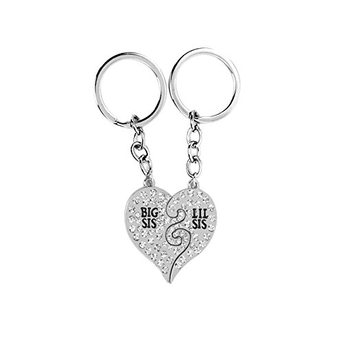 RENYZ.ZKHN Diamond Keychain _ Winter Diamond Mosaic Keychain / Sisters Love, Love Love Good Sisters Keychain, Keychain, Diamond Mosaic Keychain, Mosaic Keychain,D1085- Silver