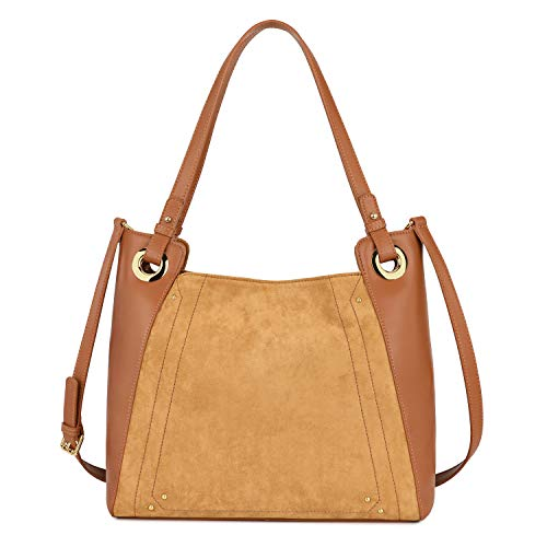 Kattee Leather Satchel Purses for Women, Large Capacity Top Handle Shoulder Bag