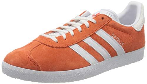 adidas Herren Gazelle Sneaker, Active Orange/FTWR White/FTWR White, 45 1/3 EU