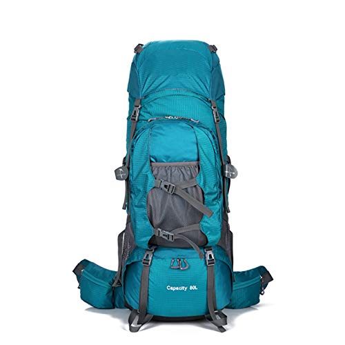 CuiCui Mountaineering Bag Large Capacity Camping Outdoor Bag Stand Backpack Men and Women Leisure Backpack,Green