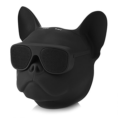 French Bulldog Shaped HI-FI Wireless Speaker w/Function of Voice Command, w/ 32G Capacity, Bluetooth4.1, Portable, Perfect for Home, Long Time Use