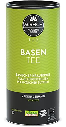 M. Reich BasenTee - 30 Beutel - Basischer Bio-Kräutertee mit erlesenen 28 Zutaten - ideal für basische Ernährung oder als Begleiter bei Fastenkuren