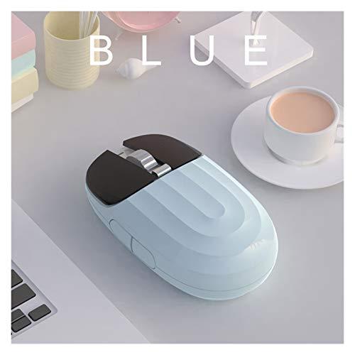 LDH 2.4G Mouse Inalámbrico Bluetooth Bluetooth Girl Silent Recargable Lindo Fresco No Resbalón Cómodo Cómodo Inalámbrico Multi-Color Opcional Conexión De Modo Dual (Color : D)