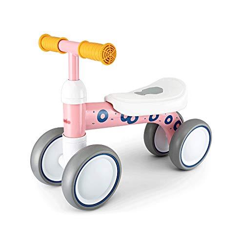 SXNYLY Bebé Bicicleta de Equilibrio 1-2 años niña/niño de Bicicletas Mejor Juguete Antiguo Juguete de Regalo 1 año sin Pedal de bebé 4 Bicicleta de Equilibrio del niño Rueda (Color : C)