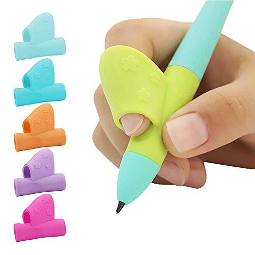 Mr.Twinklelight 6 Stück Bleistift Griffe, Ergonomische Kinder Bleistifthalter, Bildung Geschenk, Stift Schreiben Grip für Kinder Schreiben Korrektur Haltung