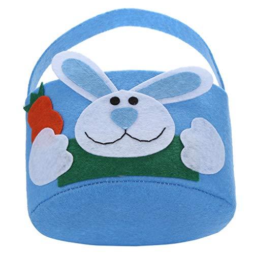 Bolsa de regalo de conejo de Pascua para caramelos, regalo creativo para el hogar, accesorio azul
