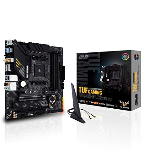 ASUS TUF GAMING B550M-PLUS (WI-FI) - Placa Base Gaming mATX AMD AM4 con VRM de...