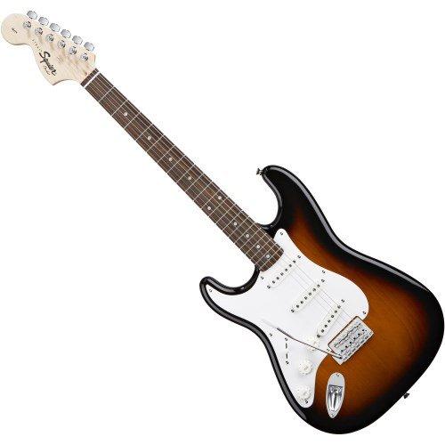 Fender Squier Affinity Strat RW - Guitarra eléctrica, color marrón