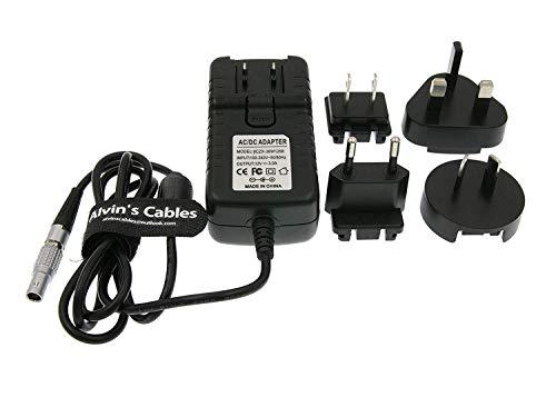 Alvin's Cables 2 Pin Stecker an Universal AC mit UK EU AU US Stecker Adapter Konverter Stromkabel für Z Cam E2 Flaggschiff Teradek Cube Hollyland Cosmo 600 2M