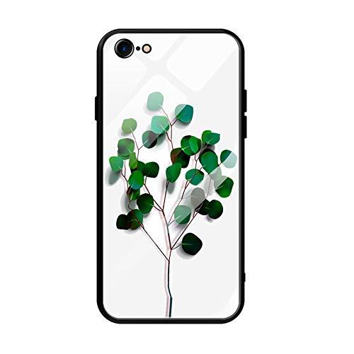 Oihxse Cover Compatibile per iPhone 8 Plus Cover Sottile Antiurto Resistente per iPhone 7 Plus Custodia,Morbido Nero Silicone Bumper e etro Temperato Antiurti AntiGraffii Moda Disegni Protettiva (A5)