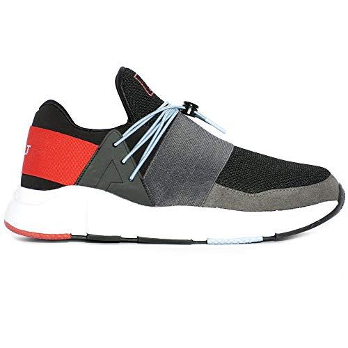 Asfvlt Sneaker Area EVO 015, Herren Sneaker Grau Kohle, Grau - Kohle - Größe: 43 EU