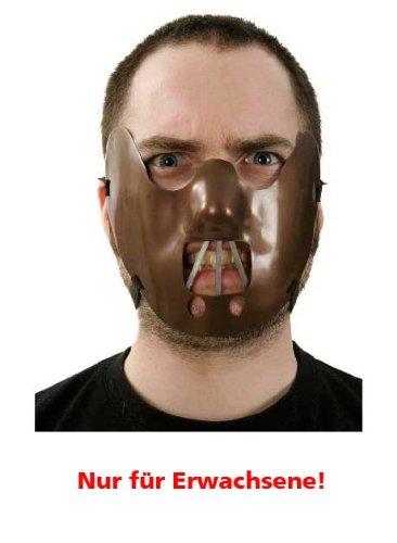 Maulkorb Maske Halloween Universalgröße Erwachsene
