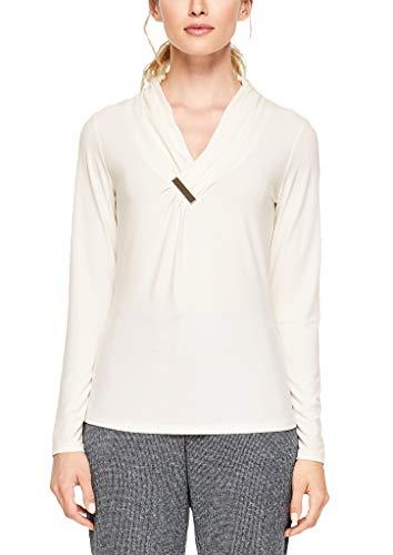 s.Oliver BLACK LABEL Damen 11.910.31.6716 Langarmshirt, Elfenbein (Cream White 0220), (Herstellergröße: 38)