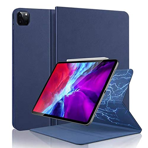 Hülle für iPad Air 4 Generation 2020 10.9 Zoll & iPad Pro 11 2020 Magnetische Schutzhülle Case, Ultra Dünn Leicht Smart Cover (Unterstützt 2. Gen Pencil Aufladen) Auto Schlaf/Wake- Navy blau