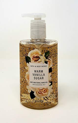 Bath and Body Works WARM VANILLA SUGAR Anti-Bacterial Hand Gel 7.6 Fluid Ounce (2020 Edition
