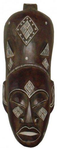 Maske Africa MAN, 50 cm, handgearbeitete Holz-Maske, Wandmaske, Afrika