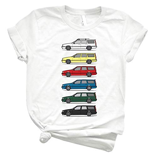 A Stack of Volvo 850 V70 T5 Swedish Turbo Wagons 86 - Unisex Shirt Men's Shirt Best Vintage Tee for Women Kids