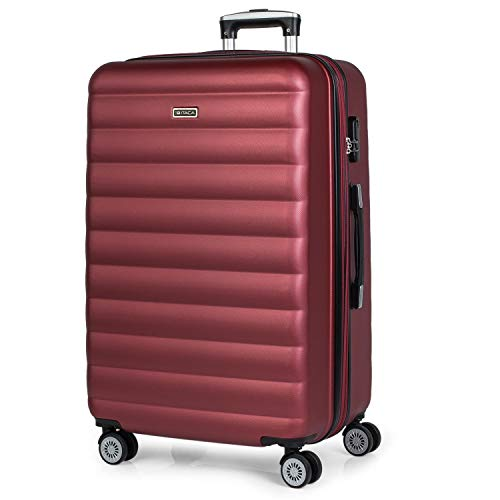 ITACA - 71270 TROLLEY ABS EXTENSIBLE GRANDE, Color Granate