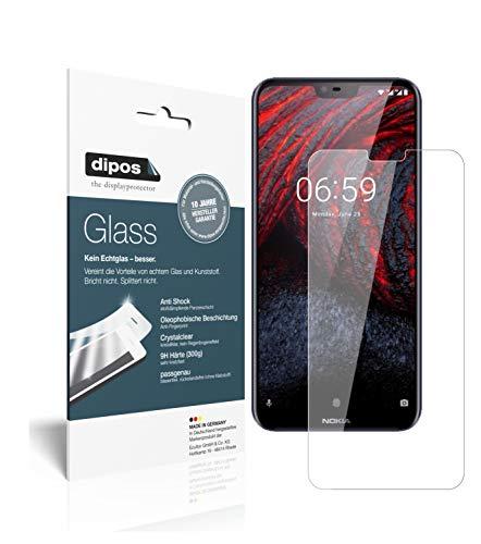 dipos I 2X Panzerfolie klar kompatibel mit Nokia 6.1 Plus Schutzfolie 9H Bildschirmschutz-Folie