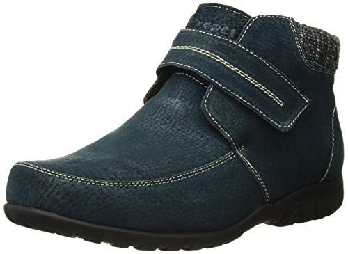 Propet Womens Delaney Strap Ankle Boot, Navy, 9.5 X-Wide