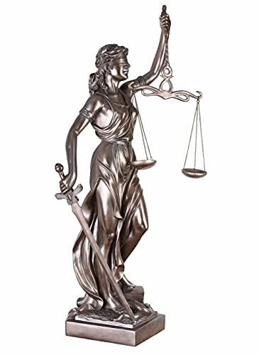 Justitia Skulptur Göttin der Gerechtigkeit Figur römische Mythologie 90 cm neu IS257 Palazzo Exklusiv