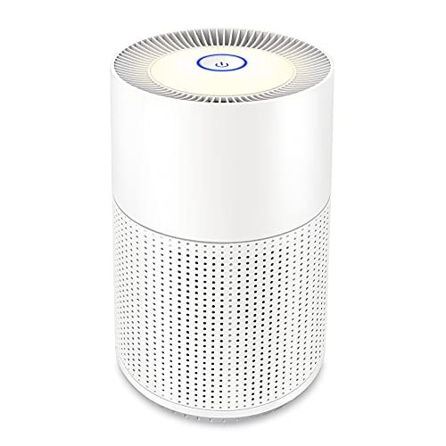 WSTA Air Purifier for Home Allergies and Pets,True HEPA Filter,Sleep Mode & Night Light,Super Quiet Air Cleaner Purifiers for Bedroom,Office,Smokers,Smoke Dust