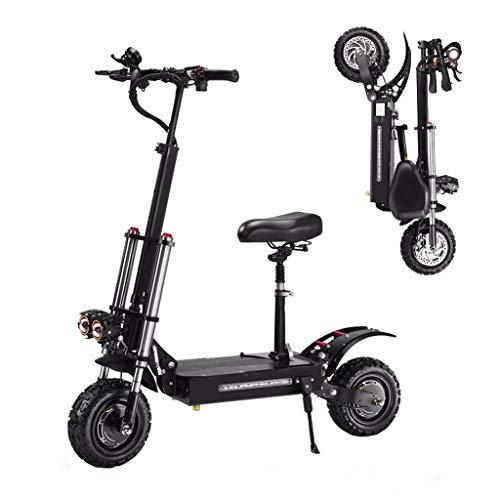 ZHHL Electric Scooter Plegable, Patinete Eléctrico para Adultos, 5400w Motor Dual, Velocidad...